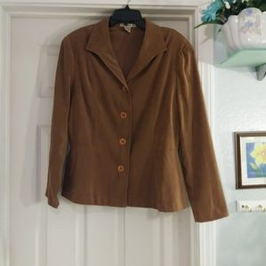Camel color Notations womens blazer size XL